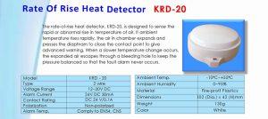 Rate Of Rise Heat Detector KRD-20